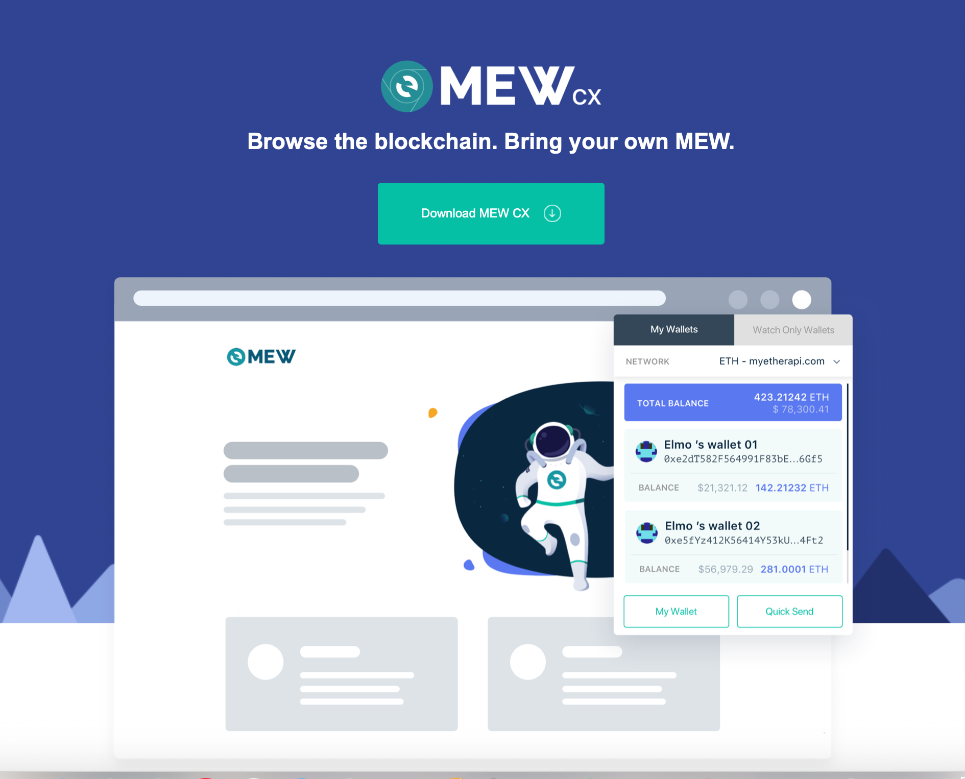MEW CX home page