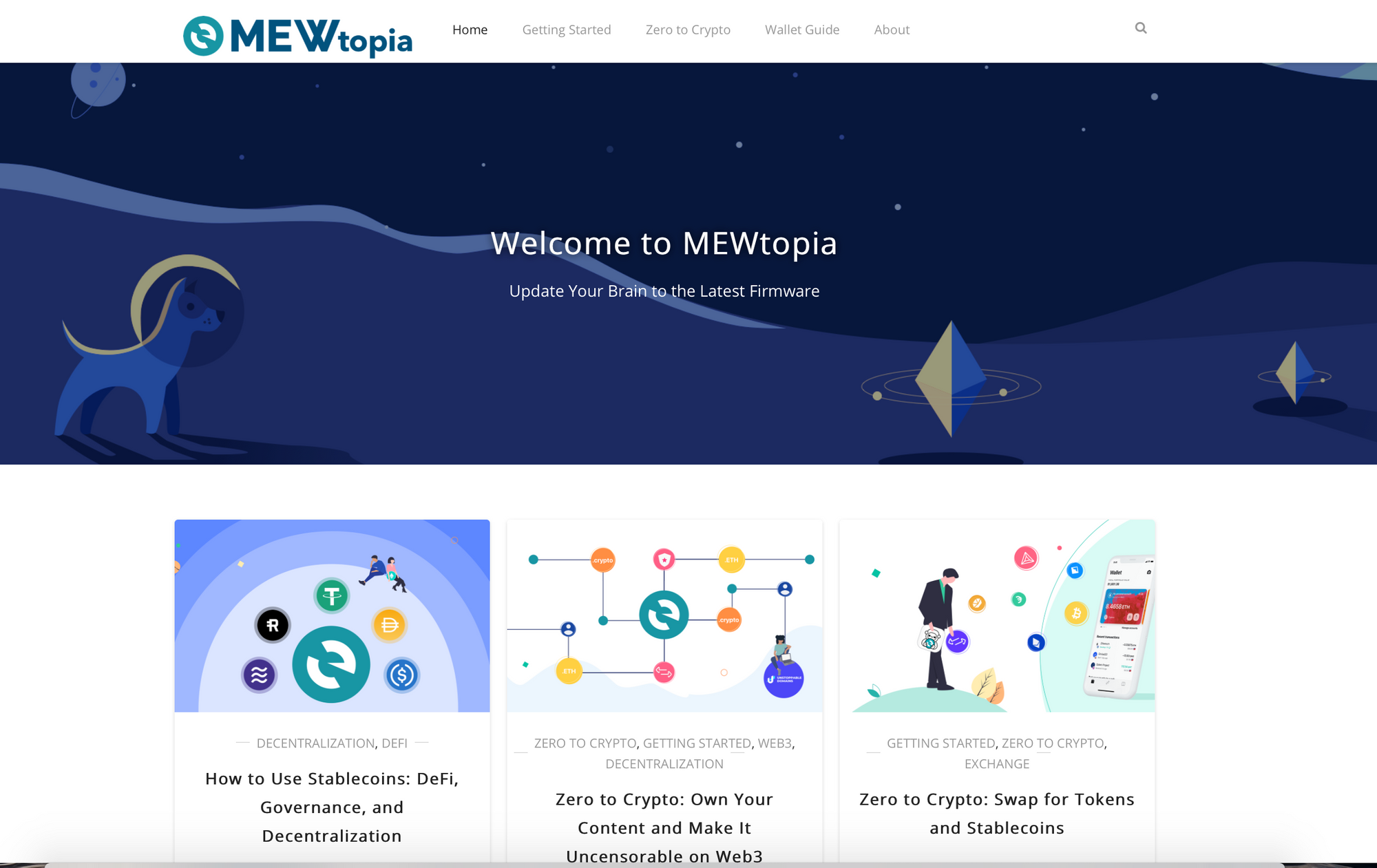 MEWtopia home page