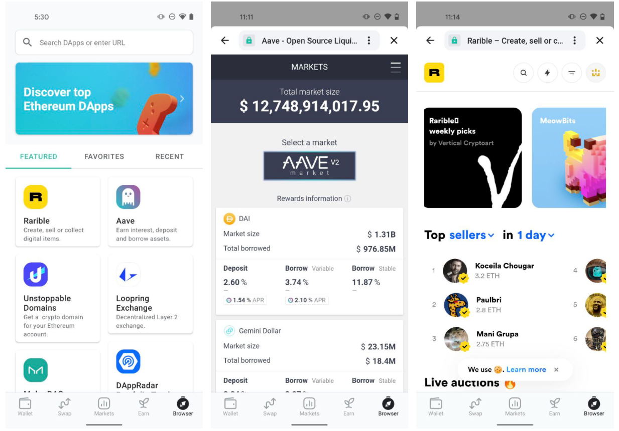 Explore Ethereum Dapps with MEW wallet browser